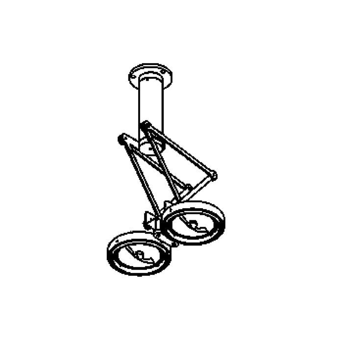 Drawing of 1412/.. - LOBBY, plafondverlichting - richtbaar - met transfo