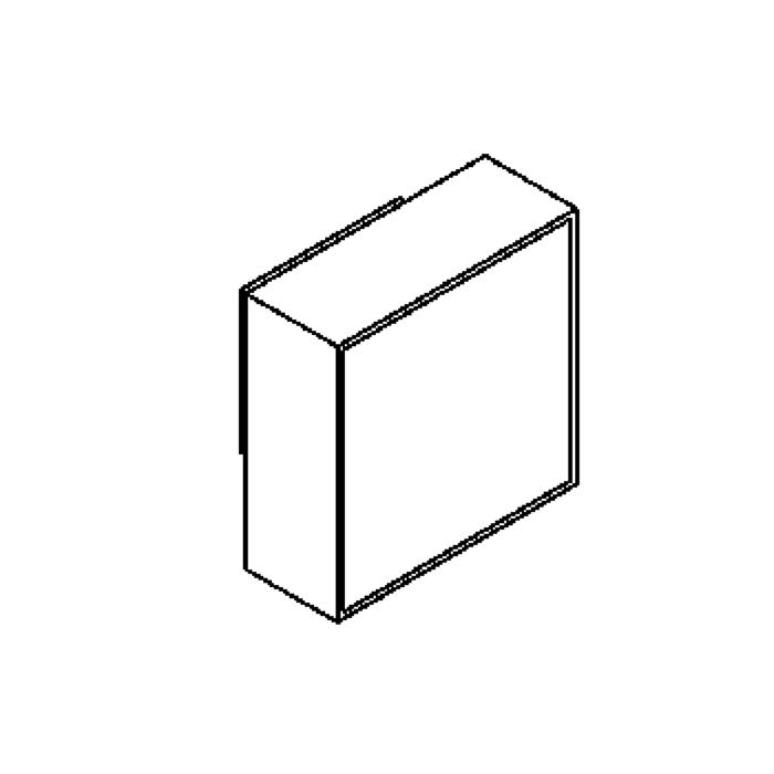 Drawing of 1420B/.. - CANVAS A, opbouw wandlicht - met blauw glas