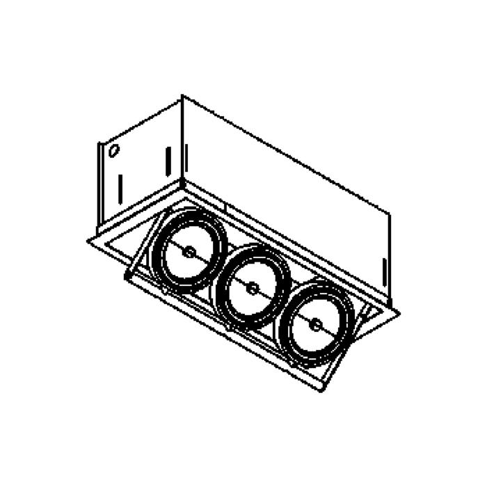 Drawing of 1445/.. - SPINNER, inbouw plafondverlichting - vierkant - richtbaar - zonder transfo