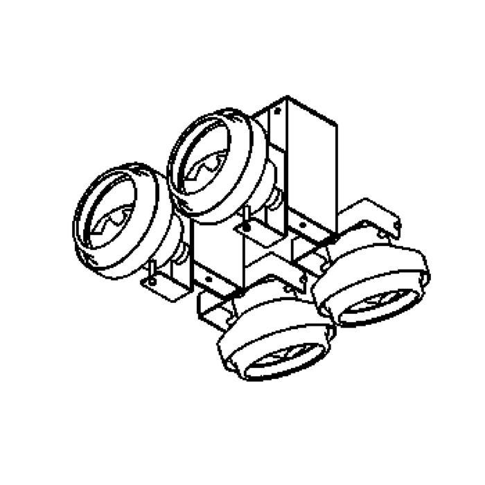 Drawing of 1451/.. - RETRO, plafondverlichting - richtbaar - met transfo
