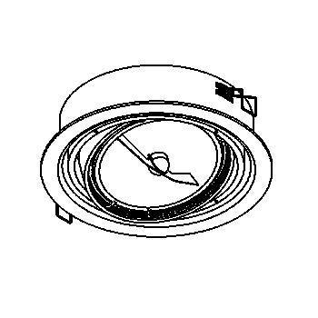 Drawing of 1475/.. - INCA, inbouwspot - rond - richtbaar - zonder transfo