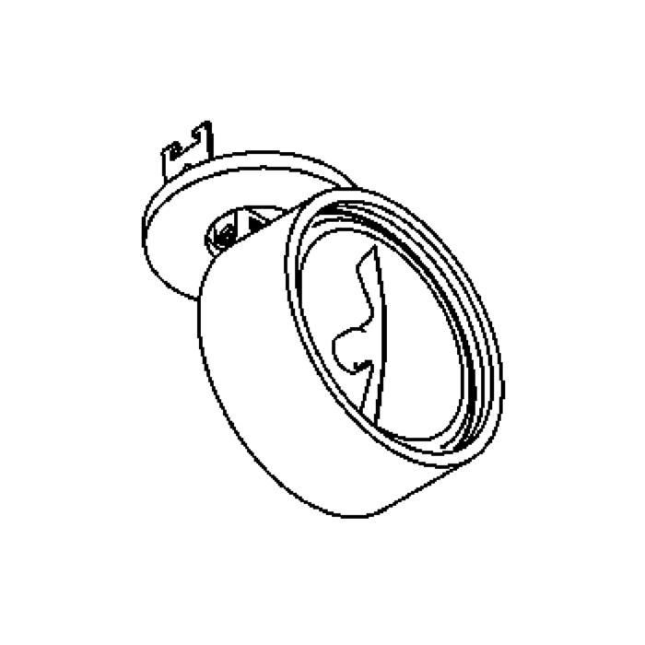 Drawing of 1494/.. - TORPEDO, inbouwbasis met opbouwspot - rond - richtbaar