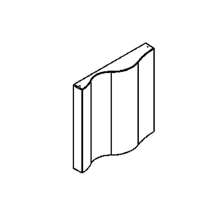 Drawing of 1500/.. - WAVE, opbouw wandlicht - vierkant - met electronische ballast