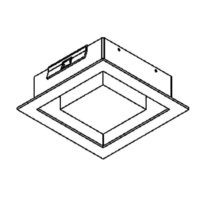 Drawing of 1520.7W/.. - SNOWBOX, inbouw plafondverlichting - vierkant