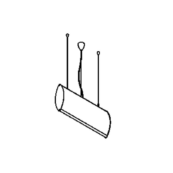 Drawing of 1551/.. - WING PENDANT, hanglamp - met electronische ballast