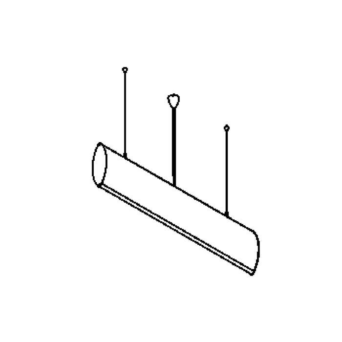 Drawing of 1552/.. - WING PENDANT, hanglamp - met electronische ballast