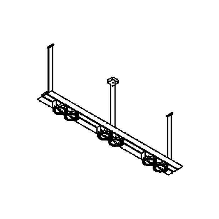 Drawing of 1560/.. - SLIDE, lichtsysteem - met transfo - met electronische ballast