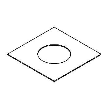 Drawing of 160.160.80/.. - ADAPTION RING, toebehoren - vierkant - vergrootring vierkant