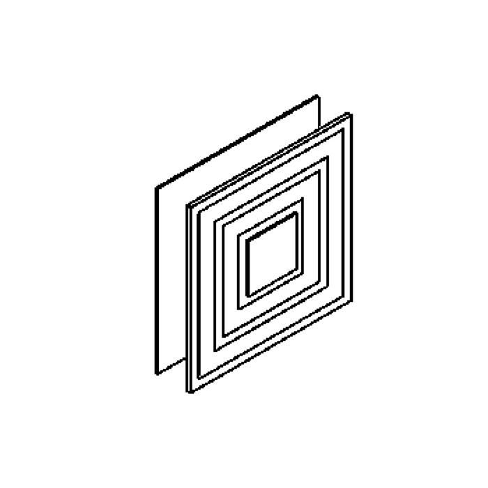 Drawing of 1606/.. - GENIO, opbouw wandlicht - vierkant