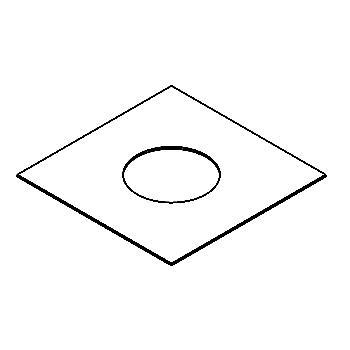 Drawing of 180.180.80/.. - ADAPTION RING, toebehoren - vierkant - vergrootring vierkant