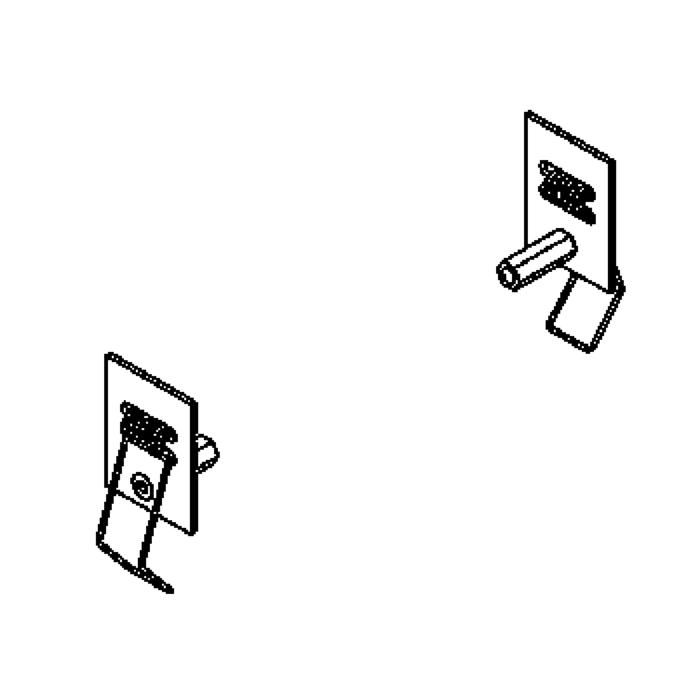 Drawing of 190/.. - ADAPTION RING, toebehoren - bevestigingsbeugel + veren te monteren aan roundbase