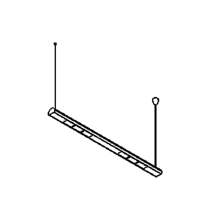 Drawing of 2105A/.. - METRO, lichtsysteem - 2 x 4 openingen - met electronische ballast
