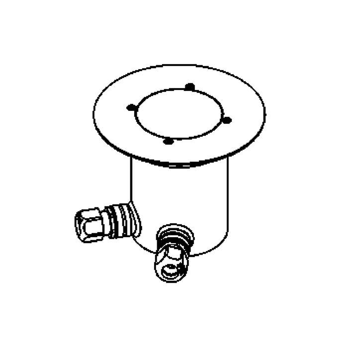 Drawing of 2222.5.160/.. - LAVA, grondspot met afdekkader op de bevloering - vast - 230V