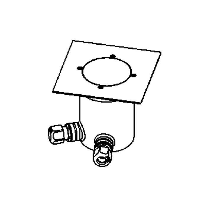 Drawing of 2225.5.150/.. - LAVA, grondspot met afdekkader op de bevloering - 230V
