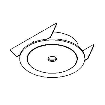 Drawing of ZENO35/.. - Ø65, inbouwbasis voor spot of pendel - rond - down - zonder transfo