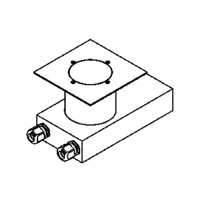 Drawing of 2257.5.150/.. - ETNA, grondspot met afdekkader op de bevloering - vast - met transfo