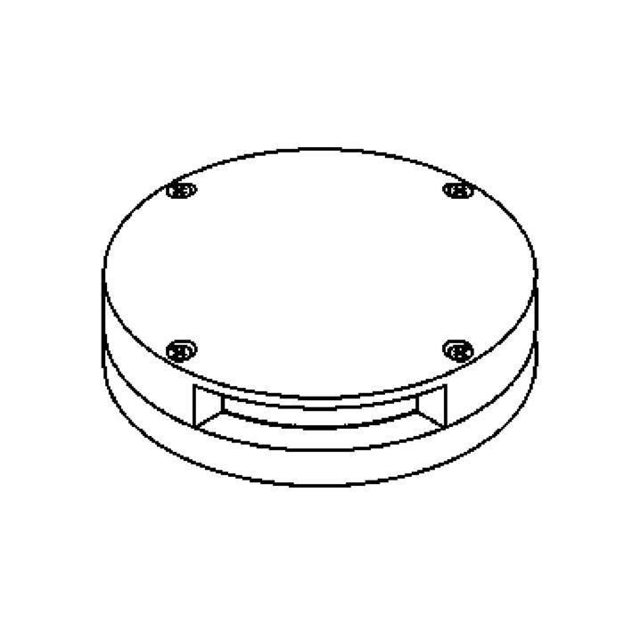 Drawing of 2308.5/.. - LAVA - ETNA, accessoires voor grondspot - inox kop met eenzijdig licht