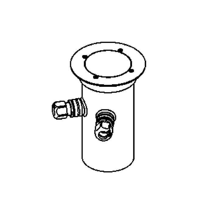 Drawing of 2314.5.130/.. - ETNA, grondspot met afdekkader op de bevloering - vast - met transfo
