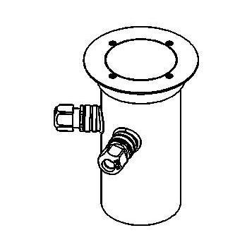 Drawing of 2315.5.160/.. - ETNA, grondspot met afdekkader op de bevloering - richtbaar - met transfo