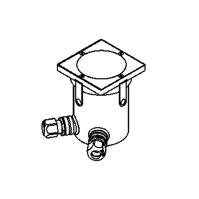 Drawing of 2318.B.9/.. - LAVA, grondspot met inwerkkader gelijk met de bevloering - vast - zonder transfo
