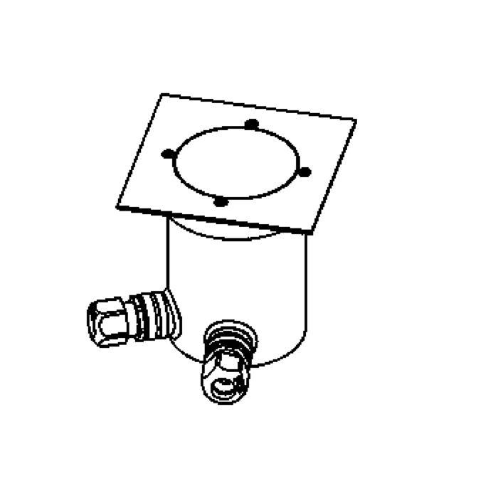 Drawing of 2324.130.A.5/.. - LAVA, Bodenleuchte mit Abdeckplatte auf dem Boden - fest