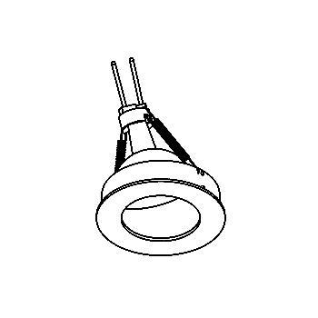 Drawing of CASWALLC/.. - Ø80 SYSTEM, cassette encastrable - rond - fixe - sans transfo