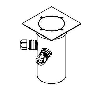 Drawing of 2358.5.150/.. - ETNA, grondspot met afdekkader op de bevloering - richtbaar - met transfo