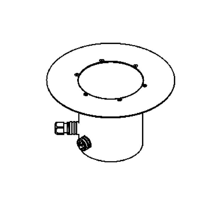 Drawing of 2364.9/.. - LAVA GRANDE, grondspot met afdekkader op de bevloering - richtbaar - zonder transfo