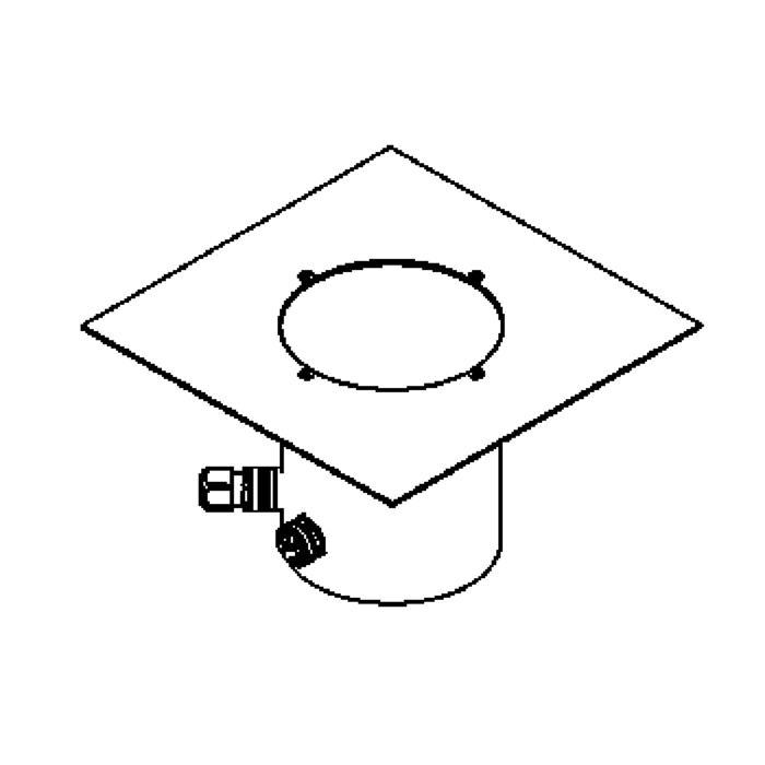 Drawing of 2380.9/.. - LAVA GRANDE, grondspot met afdekkader op de bevloering - richtbaar - zonder transfo