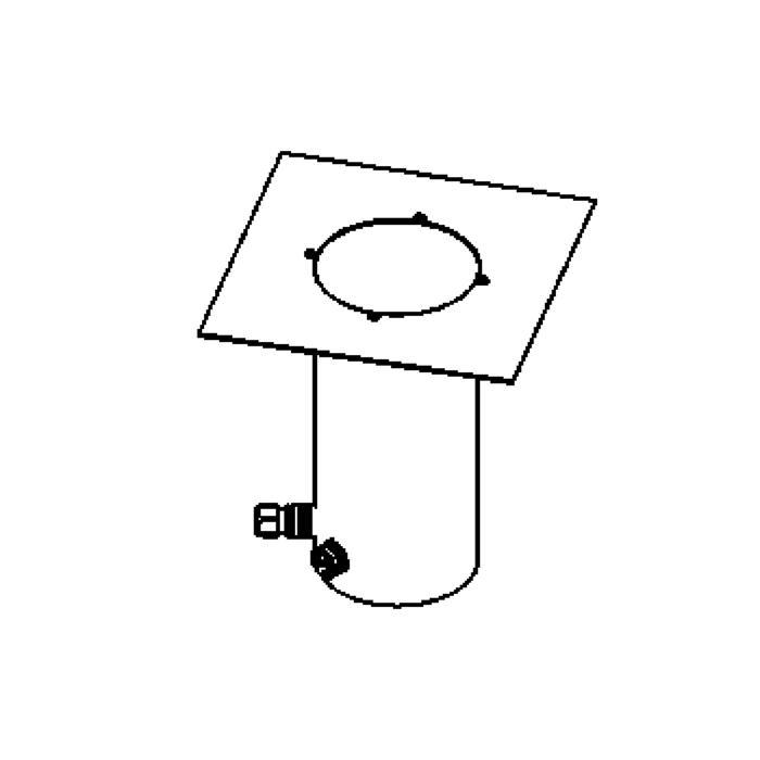 Drawing of 2385.9/.. - LAVA GRANDE, grondspot met afdekkader op de bevloering - vast - up