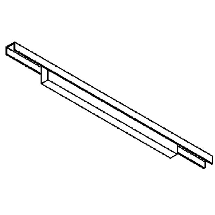 Drawing of 2501/.. - CLIP SMALL, lichtsysteem - PC 600mm - met electronische ballast