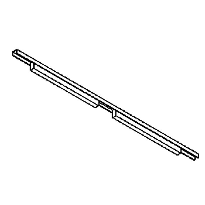 Drawing of 2502/.. - CLIP SMALL, lichtsysteem - PC 2 x 600mm - met electronische ballast