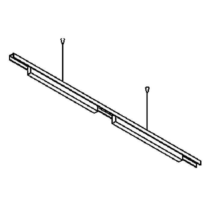 Drawing of 2512/.. - CLIP SMALL, lichtsysteem - PC 2 x 600mm - met electronische ballast