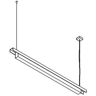 Drawing of 2516.B/.. - CLIP, lichtsysteem - PC 1200mm - met electronische ballast