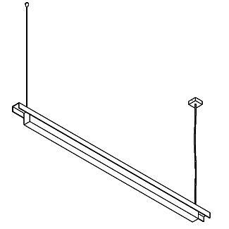 Drawing of 2522.D/.. - CLIP, lichtsysteem - PC 1500mm - met electronische ballast