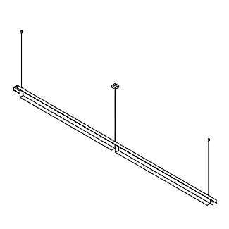 Drawing of 2528.C/.. - CLIP, lichtsysteem - PC 2 x 1500mm - met electronische ballast