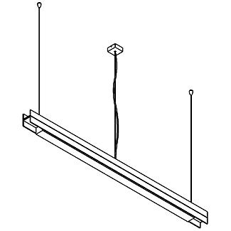 Drawing of 2536.A/.. - CLIP DOUBLE, lichtsysteem - PC 1200mm - met electronische ballast
