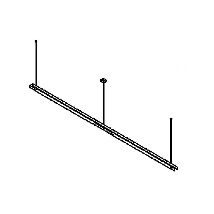 Drawing of 2548.B/.. - CLIP, lichtsysteem - PC 2 x 1200mm - met electronische ballast