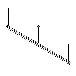 Drawing of 2554.A/.. - CLIP DOUBLE, lichtsysteem - PC 2 x 1200mm - met electronische ballast