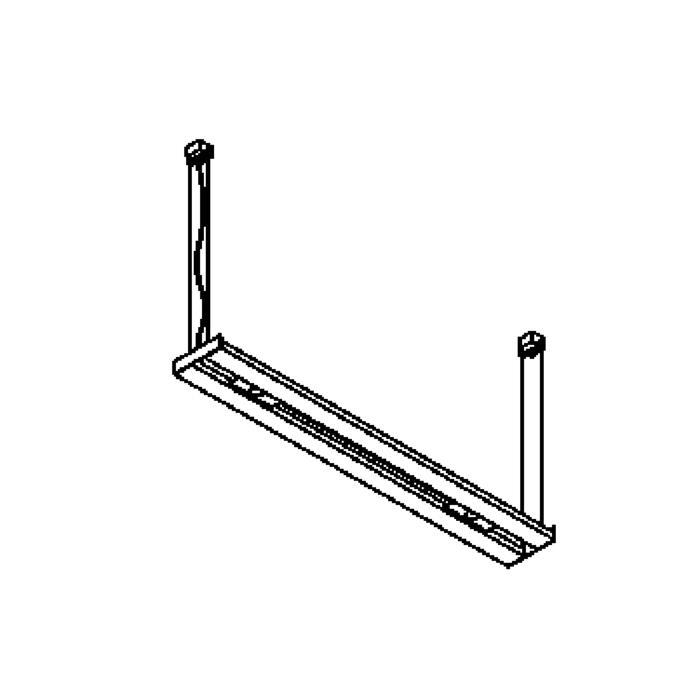 Drawing of 2595/.. - LINEA, lichtsysteem - down/up - stroomtoevoer op de zijkant - met transfo - met electronische ballast