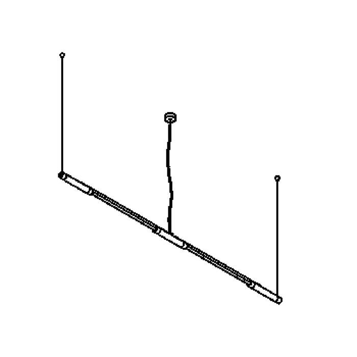 Drawing of 2602/.. - MIKADO, système lumineux - lampe ne pas couvert - avec ballast électronique