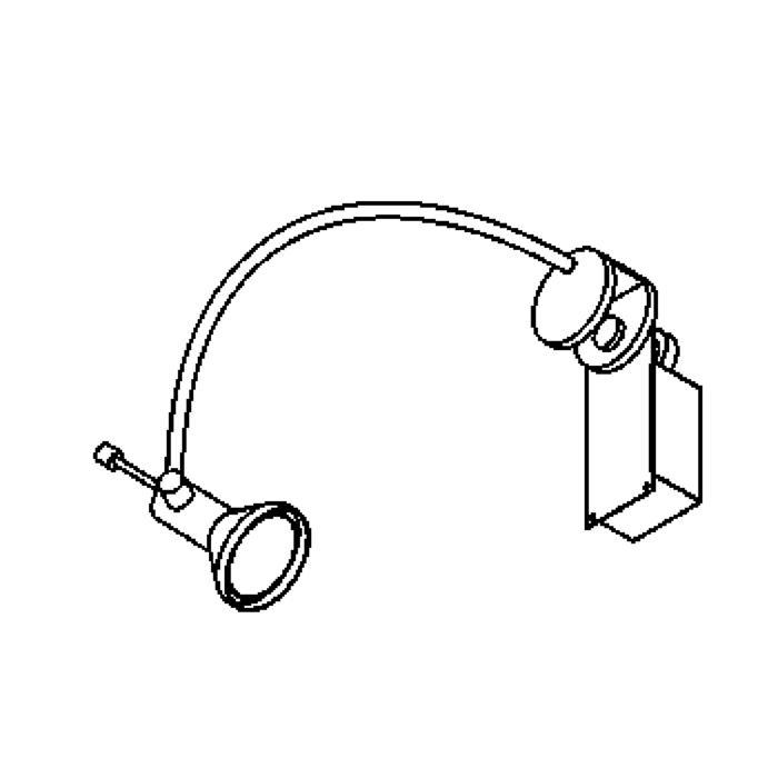 Drawing of 3007.JUPITER.25/.. - DISPLAY, Beleuchtung für Schaufenster - clip 25mm - mit Trafo