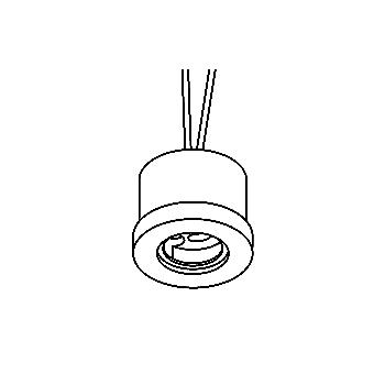 Drawing of 300V.230V/.. - FITTING IP54, supplement inbouwspot - waterdichte fitting