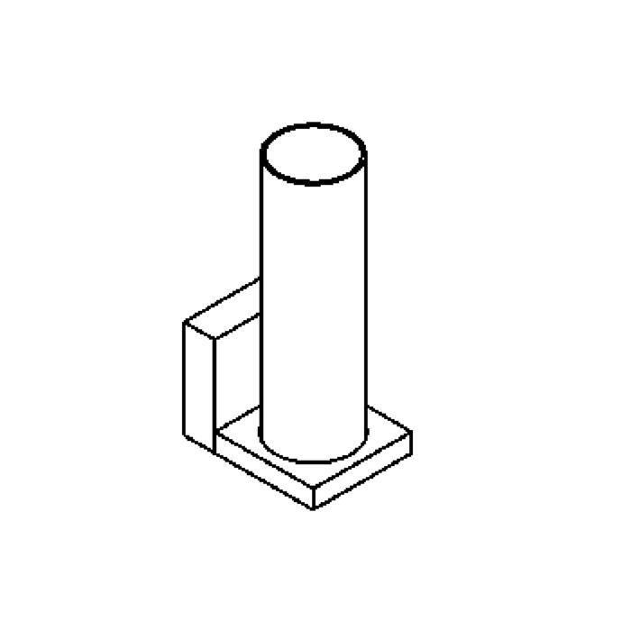 Drawing of 3017/.. - LOLA, opbouw wandlicht - zonder ballast