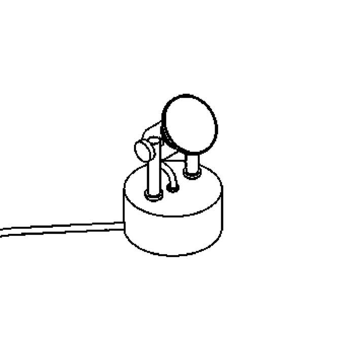 Drawing of 3037/.. - TURNER, tafellamp - met schakelaar - snoer en stekker - met transfo