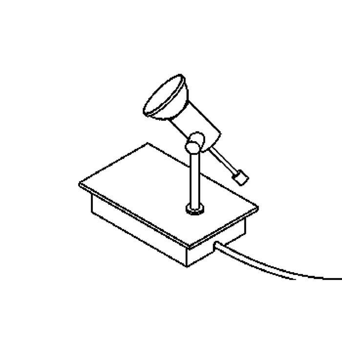 Drawing of 3038/.. - ATOMIS, tafellamp - met schakelaar - snoer en stekker - met transfo