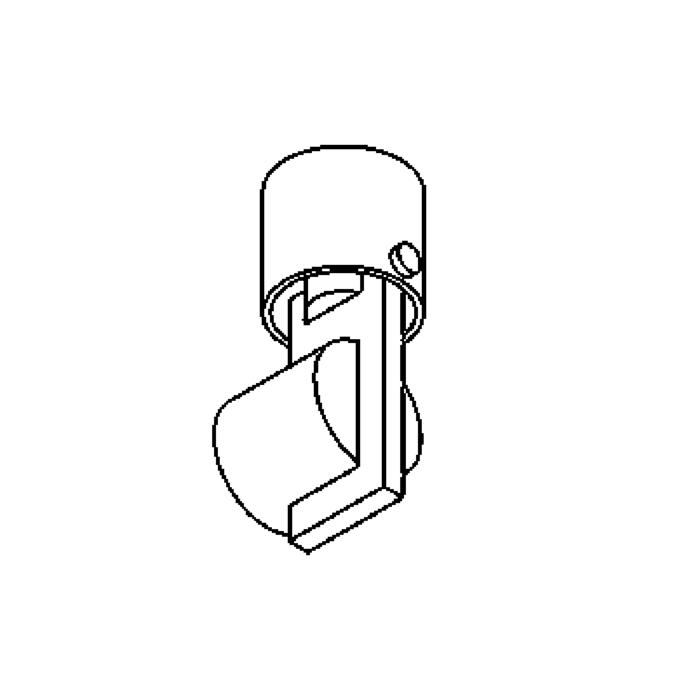 Drawing of 3042.T1/.. - NEMO, built-up wall light - T1 polycarbonate - with transformer