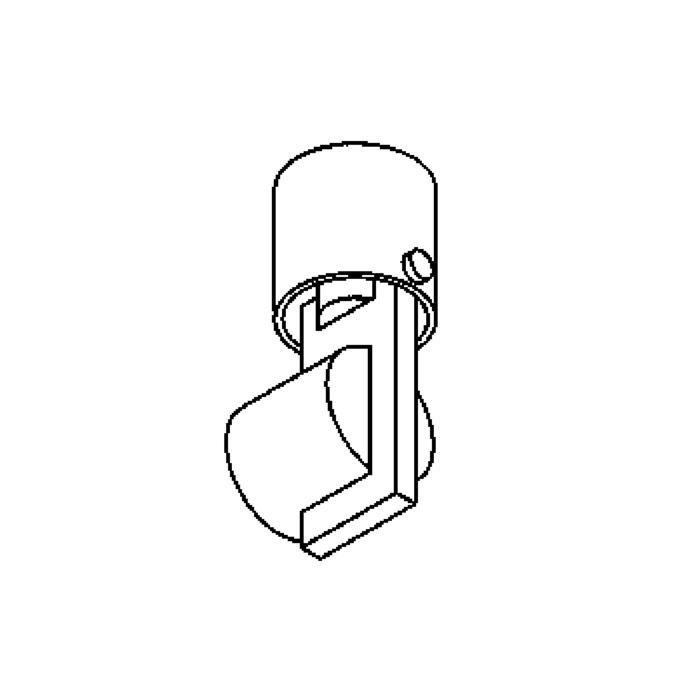 Drawing of 3042.T3/.. - NEMO, opbouw wandlicht - T3 alu - met transfo
