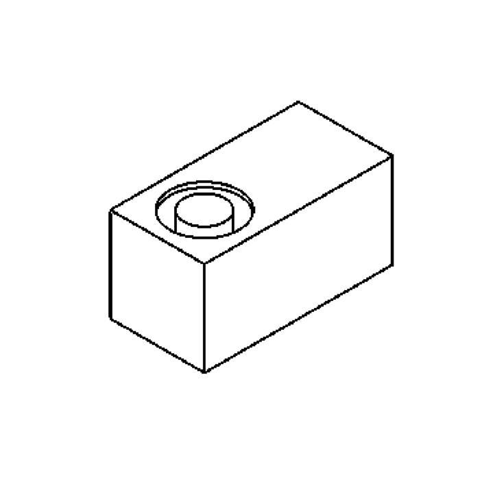 Drawing of 3043/.. - MICRO, opbouw wandlicht - vierkant - vast - met transfo