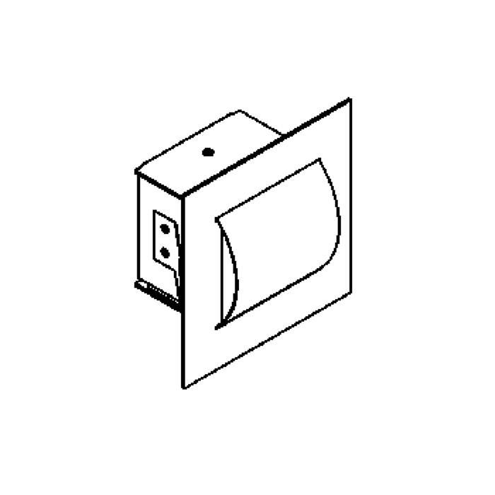 Drawing of 3058/.. - PRADO, inbouw wandlicht - polycarbonaat